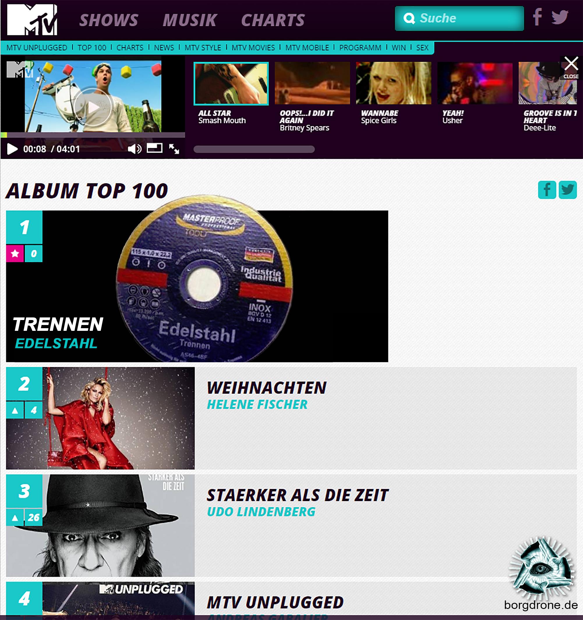mtv charts top 100